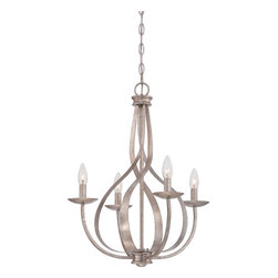 Quoizel - Quoizel SER5004IF Serenity 4 Light Chandeliers in Italian Fresco - Feminine, airy and radiant are just a few words to describe the almost ethereal quality of the Serenity Chandeliers. The swirling fixture appears in motion and is enhanced by the stunning Italian Fresco finish.
