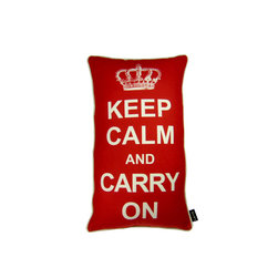 Lava - Carry On Red 14 x 24 Pillow (Indoor/Outdoor) - 100% polyester cover and fill. Suitable for use indoors or out. Made in USA. Spot clean only
