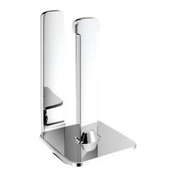 Gedy - Polished Chrome Vertical Toilet Paper Holder - Made in brass and finished in chrome.