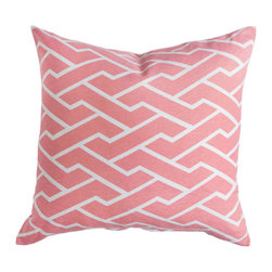Caitlin Wilson Textiles - Pink City Maze Pillowcase - Navigating through bustling city streets, this fresh geometric pops in every color.