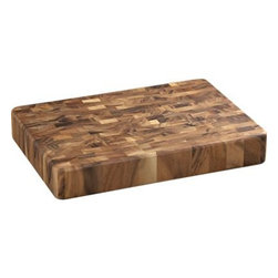 End Grain Board - This beautiful woodblock cutting board is just the right size for cutting up an onion or dicing garlic.