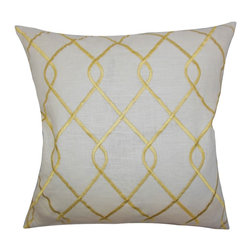 PILLOW COLLECTION INC - Jolo Geometric Down Fill Throw Pillow Yellow - This lovely throw pillow is incredibly soft and plush. Made of high-quality cotton material,this indoor pillow ensures long lasting quality. This 18-inch pillow is ideal for your sofa,bed or love seat.