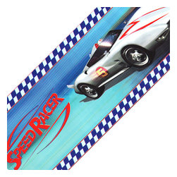 York Wallcoverings - Speed Racer Racing Cars Mach 5 Wallpaper Border Accent Roll - FEATURES: