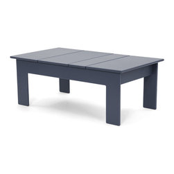 Loll Designs - Lollygagger Coffee Table Rectangle, Charcoal Grey - The Lollygagger Coffee Table works as a Cocktail Table too; and what's the difference anyway? When you're settling back in your Lollygagger lounge this table will hold your favorite patio accessories, a happy little plant, and even your bare feet. Available in round or rectangle it's sure to accommodate that negative space between you and your friends.