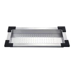 Kraus - Kraus CS-4 Stainless Steel Colander - Kraus Colander is an ideal addition to your kitchen sink