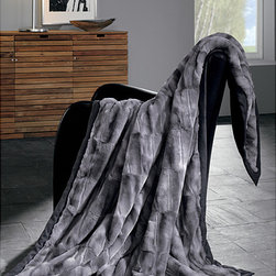 None - IBENA Grey Mink Faux Fur Throw - Snuggle up with the ultimate in luxury,this mink-look-alike,gray,faux-fur throw. With its opulently oversized measurements of 60 inches x 80 inches,its a very cozy companion on cold winter days and nights,as well an instant elegance upgrade.