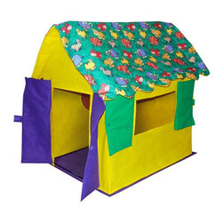 Bazoongi - Bazoongi Stuffed Animal Multicolor - KC-SAC - Shop for Tents and Playhouses from Hayneedle.com! If your children love stuffed animals you can be sure the Bazoongi Stuffed Animal is going to earn you quite a few brownie points with them! Your kids and their friends will spend hours in this cute playhouse enjoying imaginative play and having lots of fun. Plastic-coated fiberglass poles quickly assemble into a safe and sturdy frame while the industrial-approved spun-bonded body attaches in seconds so your child is ready for the action in no time. The padded doors and windows open and shut letting your child enjoy a rousing game of peek-a-boo with friends. Cleaning up is a breeze once playtime is over thanks to the detachable floor. This playhouse stores away inside a vinyl box with easy-carry handle for convenient portability.Additional Features:Floor detaches for quick easy clean-upsFeatures open and shut doors and windowsPackaged in vinyl box with easy carry handleQuick easy assemblyMeets flammability requirements ASTM-F963 specifications but is not fire proofAll non-woven fabrics and hollow-fill fiber meet CPAI-84For indoor use onlyCare and Safety Instructions:This item is for indoor use only. Direct sunlight can degrade the material. Do not wash; clean only with a damp cloth. Store in a cool dry location; never store wet. Keep playhouse away from heat or open flame.About Bazoongi KidsBased in Addison Texas Bazoongi Kids specializes in fun and practical children's products including backpacks slumber bags lunch boxes trampolines playhouses and tents. Using quality materials and superior craftsmanship they create long-lasting products that kids will eventually outgrow but won't demolish in 10 seconds flat. Bazoongi's in-house designers continue to develop cool stuff that kids will like using a lively sense of color and whimsical imagery to celebrate the joys of childhood.