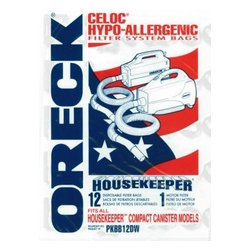 Oreck Commercial - Oreck PKBB12DW Disposable Vacuum Bags for Canister Vacuum Cleaner - 12 / Pack - Oreck PKBB12DW Disposable Vacuum Bags