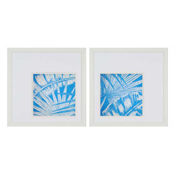 Paragon - Damask Palms I PK/2 - Framed Art - Each product is custom made upon order so there might be small variations from the picture displayed. No two pieces are exactly alike.