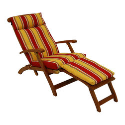 Blazing Needle Designs - Cushion for Steamer Deck Lounger (Haliwell Multi), Haliwell Multi - Fabric: Haliwell Multi. Lounger not included. All weather resistant and water proof. Dacron insert. Washable once the Dacron insert is taken out of the cushion. UV light fading protection. Standard size patio chair cushion. 72 in. W x 72 in. H