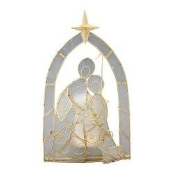 Kouboo - Nativity Tea-Light Holder in Capiz Seashell - Handset capiz seashell on metal frame.