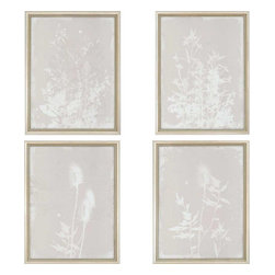 Paragon - New Flora II PK/4 - Framed Art - Each product is custom made upon order so there might be small variations from the picture displayed. No two pieces are exactly alike.