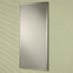 Afina - Afina Broadway Recessed Single Door Medicine Cabinet - 15W x 4D x 30H in. Multic - Shop for Bathroom Cabinets from Hayneedle.com! The Afina Broadway Recessed Single Door Medicine Cabinet - 15W x 4D x 30H in. is perfect for your modern bathroom. This sleek recessed mounted medicine cabinet boasts a clean contemporary design. There's a mirror on the front and behind the door as well as a fully mirrored back. The door opens 180 degrees to reveal three adjustable glass shelves. Made of rustproof satin anodized aluminum this medicine cabinet has reversible hinges so it may be opened on the left or right.About AfinaAfina Corporation is a manufacturer and importer of fine bath cabinetry lighting fixtures and decorative wall mirrors. Afina products are available in an extensive palette of colors and decorative styles to reflect the trends of a new millennium. Based in Paterson N.J. Afina is committed to providing fine products that will be an integral part of your unique bath environment.