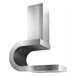 Best - Sorpresa WM45I80SB Intrigue Wall Mounted Chimney Hood With Quiet 460 CFM Perform - INTRIGUE is certainly a statement piece It also allows your imagination to participate You can choose to use the stainless flue cover as is or  paint it to match the surroundings and make the design pop Sopresa You have just changed not only the shap...