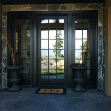 Contemporary Front Doors by Black Windows