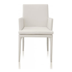 Modani - Camille Dining Chair, White - The  Camille Chair is a chic simple way to accent any dinning or sitting area. This piece of furniture would look add a spark to any room. With this amazing modern chair one can create modern interior or baroque elegance.
