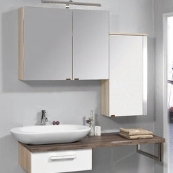 Bauformat Badea Bathroom Vanities from Germany - Modern cool bathroom vanity: minimalistic look, cool oval vessel sink