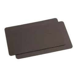 Blomus - DESA Placemat Set of 2 by Blomus - The Blomus DESA Placemat Set of 2 designed in Germany by Floz Design is simple and clean-lined.  The perfect accessory to any of the DESA dishes.  The DESA Placemat Set of 2 features Brown silicone. Blomus, headquartered in Germany, specializes in the design and manufacture of beautifully engineered home and office accessories in modern stainless steel styles.