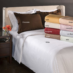 None - Egyptian Cotton 650 Thread Count Striped Pillowcase Set - Enjoy sweet dreams with this machine-washable Egyptian cotton pillowcase set. This 650-thread-count pillowcase set features a luxurious sateen weave and striped pattern and is available in several color options to match your existing decor.