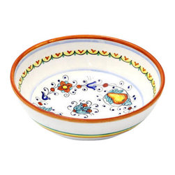 Artistica - Hand Made in Italy - Fruttina: Round Traditional Pasta/Soup/Cereal Bowl - Fruttina Collection