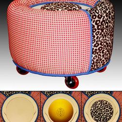 """TrueBee® Design - 'Hybrid' CROWN Storage Ottoman by TrueBee® Design - Dimensions:  28.75"""" DIA x 20.75"""" H"""