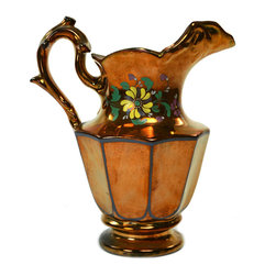 Lavish Shoestring - Consigned Rare Lustre Serving Water Jug, Antique English, 1830s-40s - This is a vintage one-of-a-kind item.