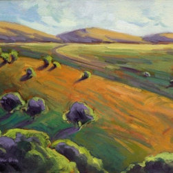 """Golden Hills 3, Konnie Kim 450528, Original, Painting"" - Rolling hills of California..."