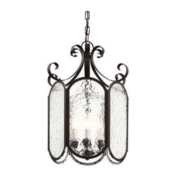 """Trans Globe Lighting - Trans Globe Lighting 40191 4 Light 15"""" Outdoor Pendant with Clear Water Glass - Specifications:"""