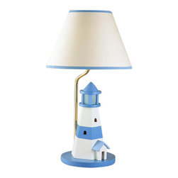 """Cal Lighting - Cal Lighting BO-5668 67 Watt 21"""" Kids / Youth Wood Lighthouse Table Lamp with On - 67 Watt 21"""" Kids / Youth Wood Lighthouse Table Lamp with On/Off Switch and Night Light from the Kids CollectionSpecifications:"""