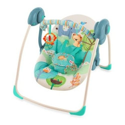 Bright Starts - Bright Starts Playful Pals Portable Swing - The Bright Starts Playful Pals Portable Swing provides cradling comfort, swinging fun and playtime toys for your baby plus innovative features for you.