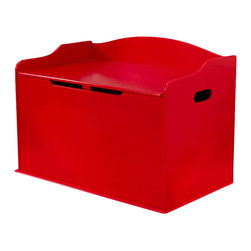 Kidkraft - KidKraft Austin Toy Box in Red - Kidkraft - Toy Boxes and Chests - 14961 - Our Austin Toy Box lets kids keep all of their favorite toys in one convenient place. This sturdy toy box was built to last and would fit right in with any room setting.