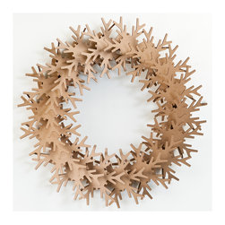 Cardboard Safari - SnowflakeWreath, Brown - Our recycled Wreaths are perfect for decorating your home or business. Our white cardboard is especially easy to paint or decorate using markers, glitter and other craft materials.