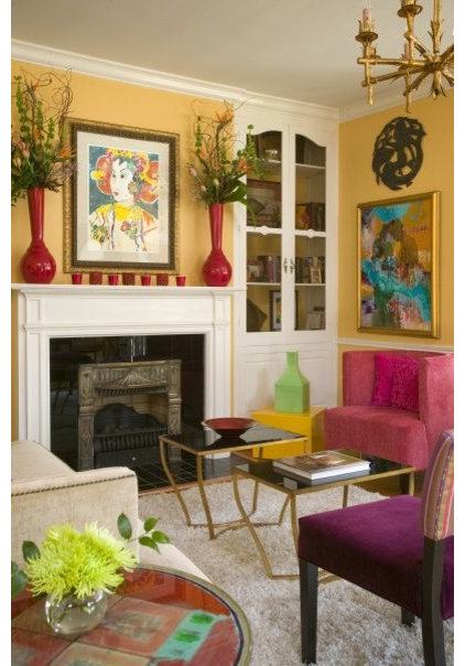 Eclectic Living Room by Andrea Brooks Interiors
