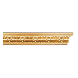 uDecor - GF-23 Crown Molding - For anyone looking for an elegant way to adorn your home or business, our gold foil products are the perfect way to achieve your desired look. Made out of polyurethane and then coated with 18k gold foil, these products are sure to leave your family and clients impressed.