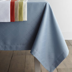 "SFERRA - SFERRA ""Lattice"" Table Linens - A lovely lattice pattern is woven into easy-care jacquard tablecloths and napkins that combine the formality and feel of fine table linens with a special stain-repellant finish, so laundering is a breeze. Select color when ordering. Handcrafted of ring..."
