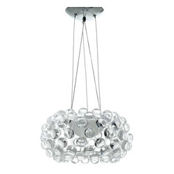 "Modway - Halo 14"" Chandelier in Clear - The circle of revolution displayed by the Halo Series introduces spontaneous brilliance that reflects powerfully throughout any room. Adorning its bearer, the glass globe is a crown of experiential motion."