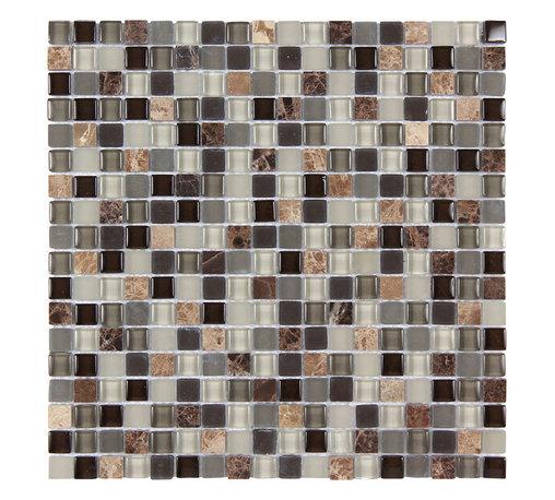 Stone & Co - Stone & Co Mosaic Glass and Stone Mix 5/8 x 5/8 Glass Mosaic Tile Mag 4429 SQ - Finish: Polished / Shiny