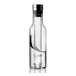 MENU - Cool Bottle - No one likes lukewarm wine or tepid juice. With this unique, wine-bottle-shaped carafe, you won't have to worry about either. It comes with two reusable cooling elements that, after some time in your freezer and placed in the bottle, will keep your beverages chilled and refreshing.