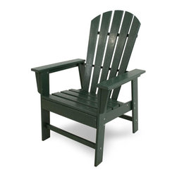 Polywood - Eco-friendly Dining Chair in Green - Ideal for dining and casual seating. Create a world-class dining experience in your own back yard with the South Beach dining chair. Want to turn your outdoor living space into the hottest spot in the neighborhood? Its easy with the South Beach Collection. Just like the popular Miami Beach scene, you'll enjoy an eclectic blend of bold art deco along with the relaxed comfort and style that you've come to expect from traditional Adirondack furniture. This collection not only looks amazing, but its also built to last for years to come. Provides the look of painted wood without the maintenance