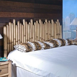 "Hospitality Rattan - Havana Bamboo Panel Headboard - The Havana Bamboo bedroom collection is one of the most unique bamboo collections found anywhere in the world. Each case good piece is hand made of authentic bamboo and incorporates a crushed bamboo laminate as the decor on the drawers along with metal glides for hassle free operation. The nature of bamboo is that it will develop hairline cracks and this is normal. It does not effect the structural integrity of the piece and each piece of bamboo is unique in its own way due to potential cracks that can develop. The Havana Bamboo collection is one of the most tropical bedroom collections ever offered and will look amazing in any bedroom. Features: -Multiple pieces of bamboo create the headboard.-Comes brand new in box.-Tropical island style design.-Hardware not included.-Natural bamboo finish.-Havana Bamboo collection.-Gloss Finish: No.-Solid Wood Construction: No.-Powder Coated Finish: No.-Non Toxic: No.-Scratch Resistant: No.-Adjustable Height: No.-Wood Molding: No.-Lighting Included: No.-Wall Mounted: Yes.-Reversible: No.-Media Outlet Hole: No.-Built In Outlets: No.-Handle Design: No.-Finished Back: Yes.-Distressed: No.-Hidden Storage: No.-Freestanding: Yes.-Frame Required: No.-Frame Included: No.-Drill Holes for Frame: No.-Swatch Available: No.-Eco-Friendly: Yes.-Commercial Use: Yes.-Recycled Content: No.Specifications: -FSC Certified: No.-EPP Compliant: No.-CPSIA or CPSC Compliant: No.-CARB Compliant: No.-JPMA Certified: No.-ASTM Certified: No.-ISTA 3A Certified: No.-PEFC Certified: No.-General Conformity Certificate: No.-Green Guard Certified: No.Dimensions: -Overall Height - Top to Bottom (Size: King, Queen, Twin): 60"".-Overall Width - Side to Side (Size: Twin): 42"".-Overall Width - Side to Side (Size: Queen): 65"".-Overall Width - Side to Side (Size: King): 80"".-Overall Depth - Front to Back (Size: King, Queen, Twin): 3"".-Overall Product Weight (Size: Twin): 25 lbs.-Overall Product Weight (Size: Queen): 35 lbs.-Overall Product Weight (Size: King): 45 lbs.-Leg Height (Size: King, Queen, Twin): 8"".-Leg Width - Side to Side (Size: Twin): 42"".-Leg Width - Side to Side (Size: Queen): 65"".-Leg Width - Side to Side (Size: King): 80"".-Leg Depth - Front to Back (Size: King, Queen, Twin): 3"".-Top of Headboard to Bed Frame: 50.5"".-Bottom of Headboard to Floor: 6"".Assembly: -Assembly Required: No.-Additional Parts Required: Yes -Parts Needed: Metal frames with preowned hardware...Warranty: -Product Warranty: 1 Year."