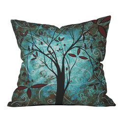 DENY Designs - madart inc Romantic Evening Outdoor Throw Pillow - Do you hear that noise? it's your outdoor area begging for a facelift and what better way to turn up the chic than with our outdoor throw pillow collection? Made from water and mildew proof woven polyester, our indoor/outdoor throw pillow is the perfect way to add some vibrance and character to your boring outdoor furniture while giving the rain a run for its money. Custom printed in the USA for every order.