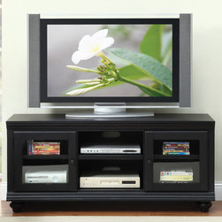 "Acme Furniture - Barra TV Stand in Black - Barra TV Stand in Black; Finish: Black; Weight: 117 lbs; Dimensions: 58"" x 18"" x 26""H"