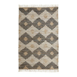 Diamond Leather Jute Rug - I have complete and total rug lust over this!