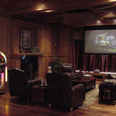 Traditional Home Theater by The Etagere Interior Design
