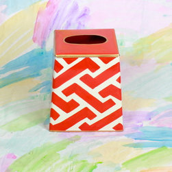 Orange Geometric Tissue Box Cover - Bring color and pattern into your space where you least expect it with this geometric tissue box.
