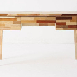 Mosaic Desk - This desk is so fun with its mosaic design and mid-century silhouette. Dressed up or dressed down, I could have some fun with this desk!