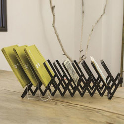 Zig & Zag Accordion Rack - Keep your files, memos, and more organized and within easy reach with the Zig & Zag Accordion Rack. Constructed from metal, it�۪s durable enough to hold those heavy client files, but still beautiful enough to keep out in the open for all to see.