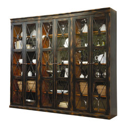 Hooker Furniture - Hooker Furniture Sanctuary 3 Piece Display Cabinet Set in Ebony - Hooker Furniture - Curio Cabinets - 3005500013PKG - Hooker Furniture Sanctuary Two Door Thin Display Cabinet in Ebony (included quantity: 3) We are all living in a busy world. We_re harried and rushed and running about managing our lives, jobs and taking care of family. We are constantly checking our smart phones and email. At the end of the day, we need a respite from the world, a place where we can relax and get centered. We need a home where we can be inspired. Through the Sanctuary Collection by Hooker Furniture, you can create a sanctuary in your own home, a tranquil space that exudes a peaceful calm and grace, almost like a weekend retreat.