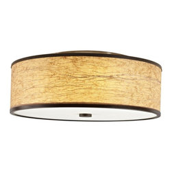 Hart Lighting - Corona 22 Maduro Paper Round Flush Mount - Corona 22 Maduro Paper Round Flush Mount with 1142 shade and 1003/1003INC ceiling pan.