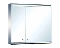 Renovators Supply - Medicine Cabinets Bright Stainless Steel Double Medicine Cabinet   13522 - Mirrored Medicine Cabinet. Maximize storage in style, this exquisite medicine cabinet is 100% stainless steel inside and out. The perfect investment for any bathroom. Measures: 22 inch H x 23 5/8 inch W x 5 1/4 inch projection.